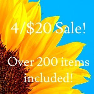 Closet clean out sale! See description for details